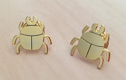 Nina Boyce Gold Beetle Pin