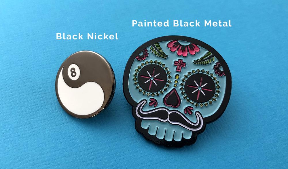 Black nickel vs painted black pins