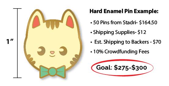 Kickstarter enamel pin goal amount example