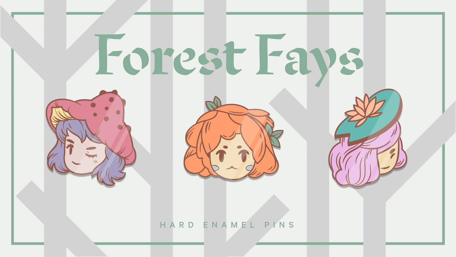 Forest Fays enamel pin Kickstarter main image