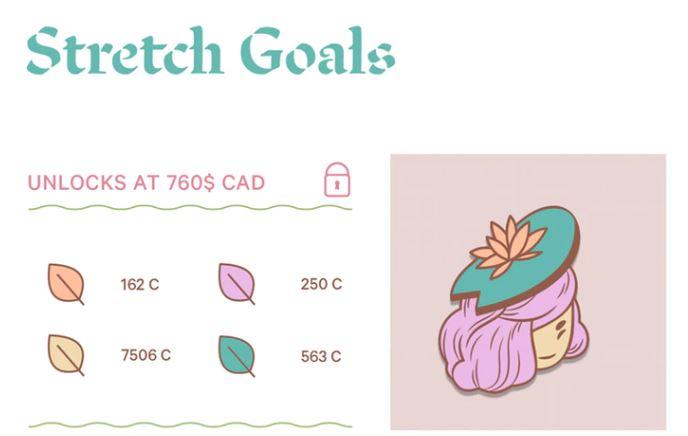 Kickstarter enamel pin stretch goal examples