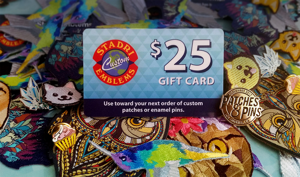 Pins & Patches $25 gift card