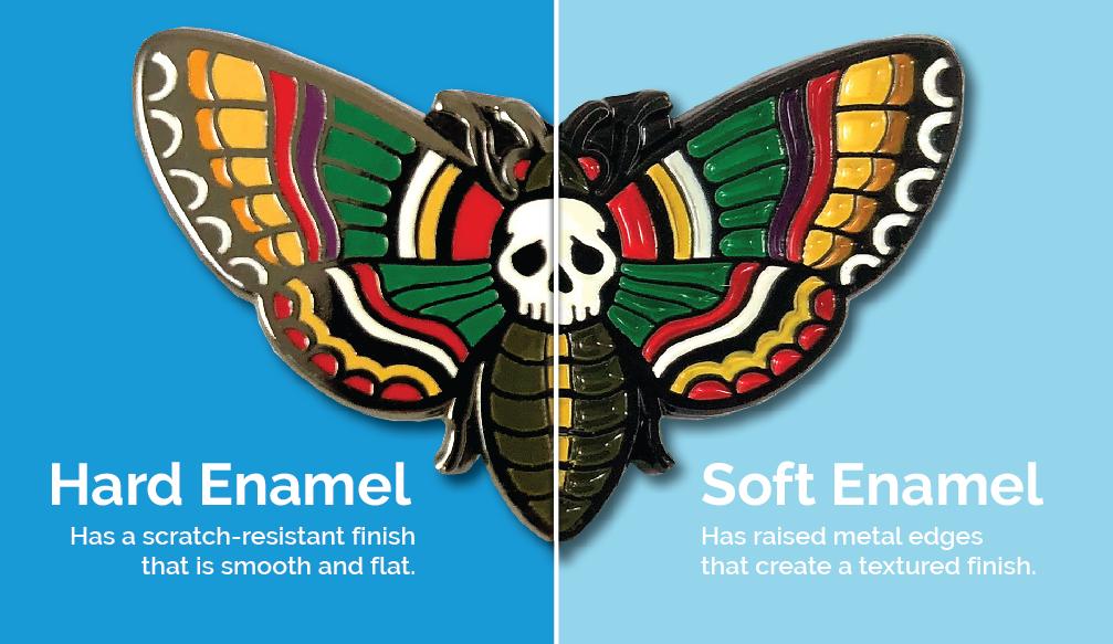 Hard vs Soft enamel pins
