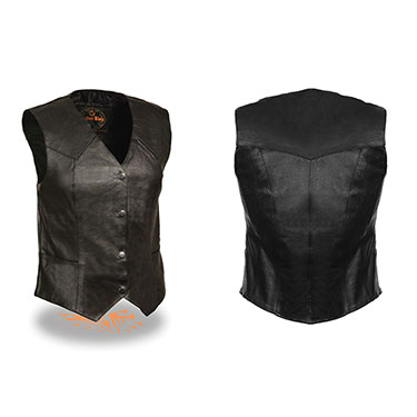 Ladies Classic Four Snap Vest