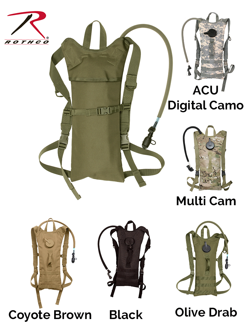 Tactical Gear - MOLLE 3 Liter Backstrap Hydration System