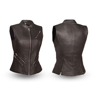 The Fairmont Ladies Five Zippered Pockets High End Vest