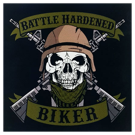 Battle Hardened Biker Decal