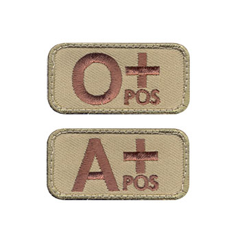Morale Patch - Blood Types