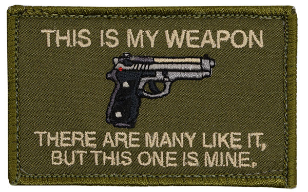 Morale Patch - This is My Weapon - Baretta 93R