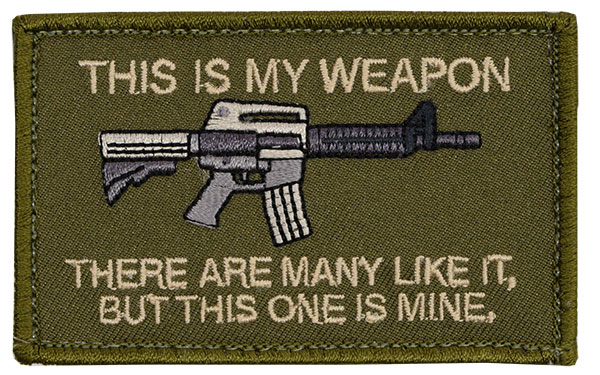 Morale Patch - This is My Weapon - M4