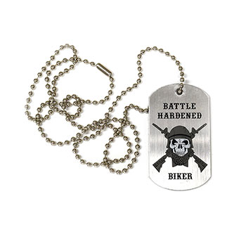 Battle-Hardened Biker Dog Tag