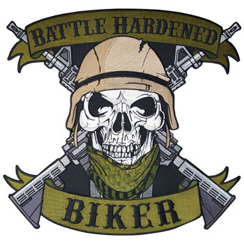 Battle Hardened Biker Back Patch (without add-ons)