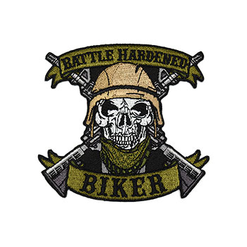 Battle-Hardened Biker Small Patch