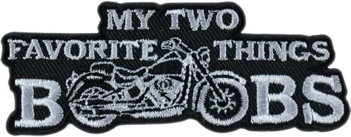 Stock Biker Patch - My Two Favorite Things