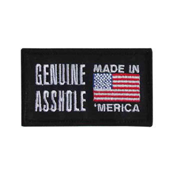 Stock Biker Patch - Genuine Asshole