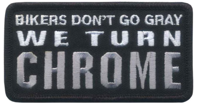 Stock Biker Patch - Bikers Don't Go Gray