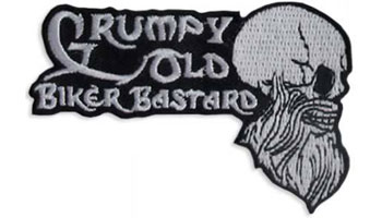 Stock Biker Patch - Grumpy Old Biker Bastard