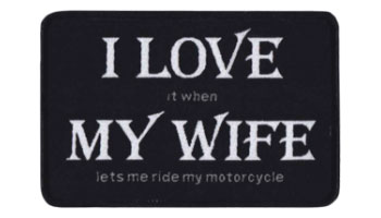 Stock Biker Patch - I Love My Wife