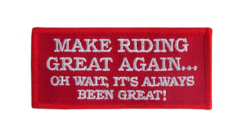 Stock Biker Patch - Make Riding Great Again
