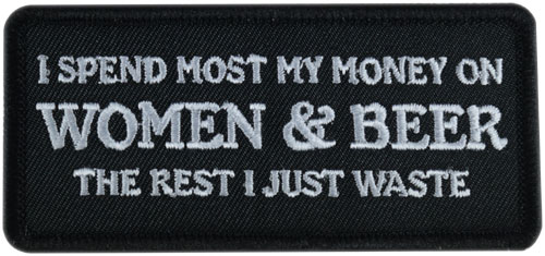 Stock Biker Patch - Women and Beer