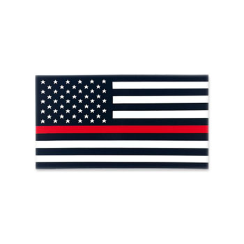 Stock Fire Decal - Thin Red Line Flag