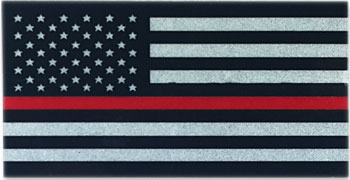 Stock Fire Decal - Thin Red Line Reflective Helmet Flag
