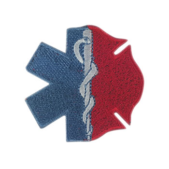 Stock Fire Patch - Maltese & Star of Life Hybrid