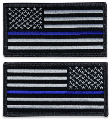 US Flag Patch - Thin Blue Line
