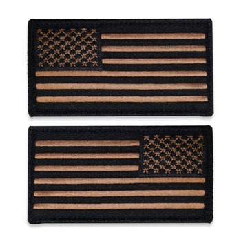 Tactical US Flag Patch (Full Length) - Dark Tan