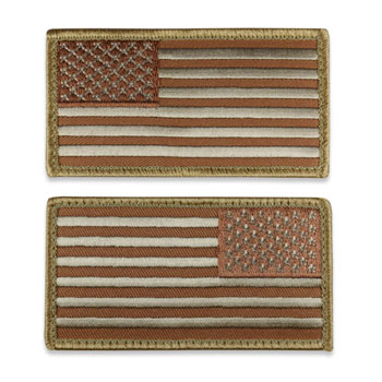 Tactical US Flag Patch (Full Length) - Desert