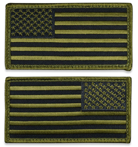 Tactical US Flag Patch (Full Length) - SWAT