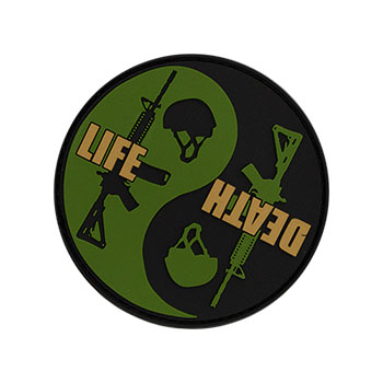 Morale Patch - Life/Death Yin Yang PVC Morale Patch