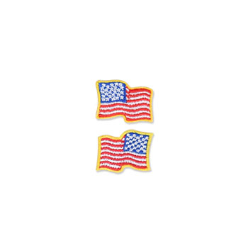 US Flag Patch - 1 x .875, Waving Gold, Small
