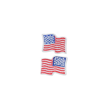 US Flag Patch - 1 x .875, Waving White, Small