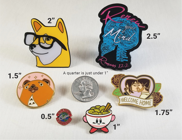 Comparing pins at different sizes