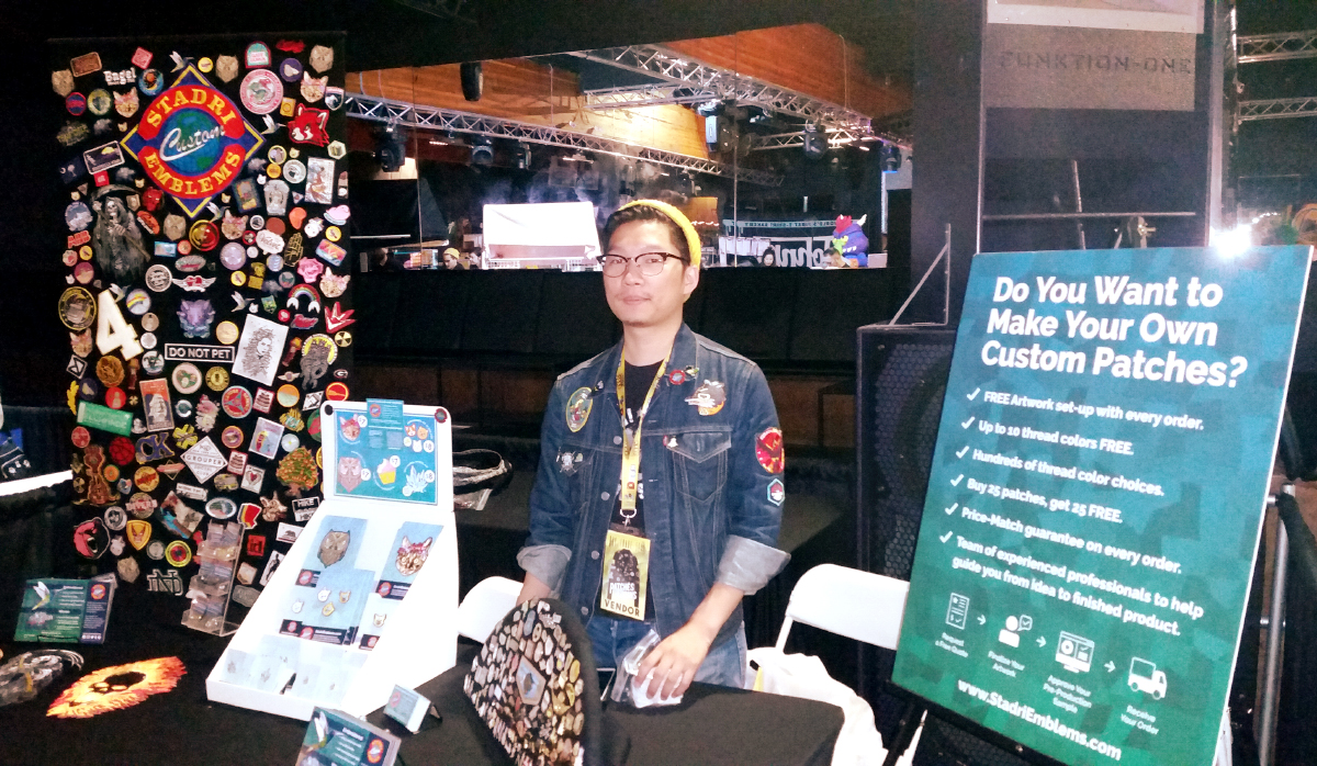 Patches & Pins Expo Stadri Booth