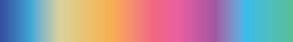Rainbow metal color spectrum