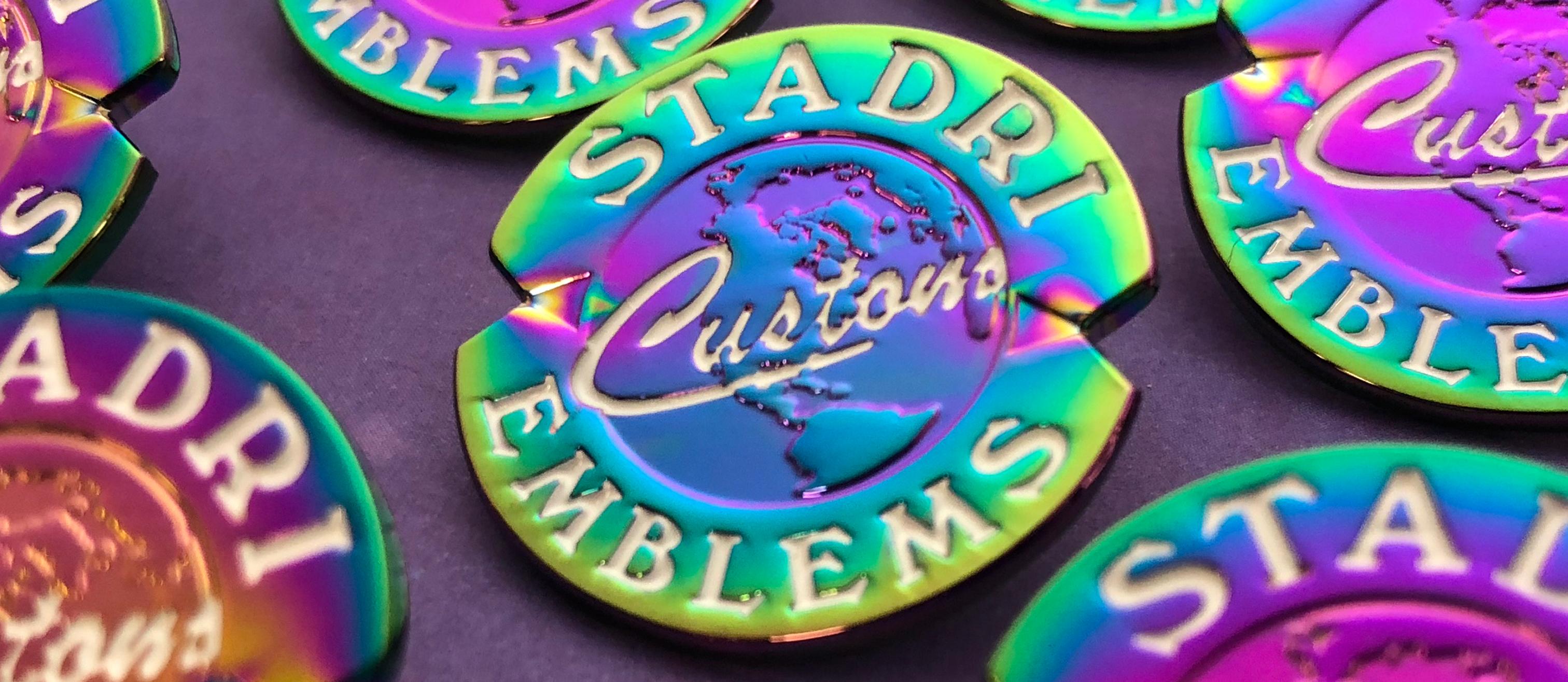 Rainbow metal Stadri logo