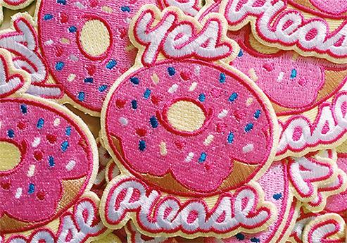 Sara Talmadge Yes Please Doughnut Patches