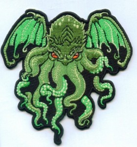 Cthulhu Embroidered Patch made by Stadri Emblems for Miss Monster