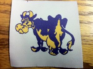 Purple Cow Woven Label