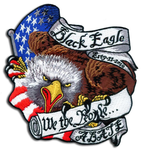 Black Eagle A.B.A.T.E. Eagle Patch