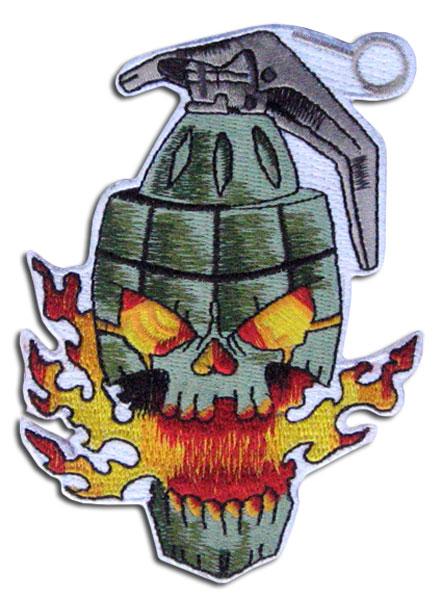 Skull as a grenade