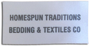 homespun printed label