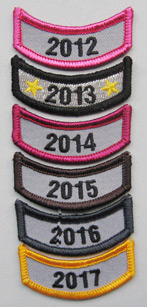 Year Rocker Patches