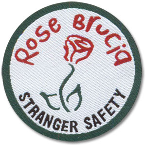Rose Brucia Woven Patch