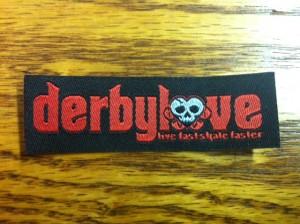 Derbylove Woven Label