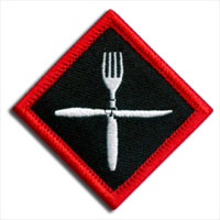 fork and knife patch
