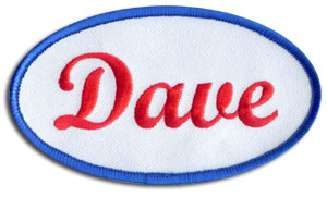 Custom embroidered patches by stadri emblems for Mechanic shirts custom name patch