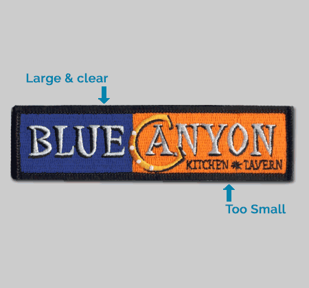 text size on a patch